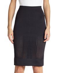 Clover Canyon Laser-Cut Neoprene Pencil Skirt - Lyst