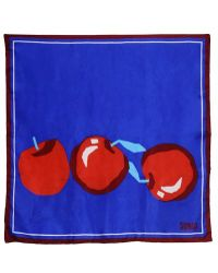Sonia Rykiel Apple Printed Silk Twill Scarf - Lyst