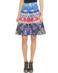 Clover Canyon Spanish Fan Flare Skirt - Multi - Lyst