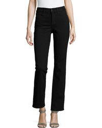 Nydj Marilyn Rhinestonedetailed Straightleg Jeans - Lyst