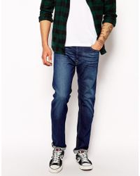 Diesel Jeans Darron 607I Slim Tapered Dark Blue - Lyst