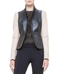 Akris Punto Colorblock Napa Leather Jacket - Lyst