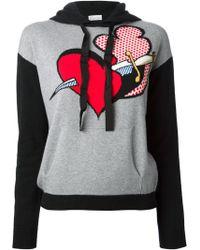 RED Valentino Dagger and Heart Sweatshirt - Lyst