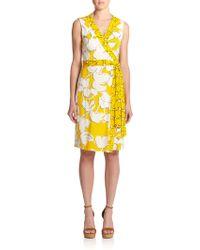 Diane von Furstenberg New Yahzi Short Silk Jersey Wrap Dress - Lyst