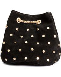 H&M Suede Bucket Bag - Metallic
