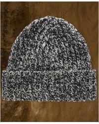 Denim & Supply Ralph Lauren Black Patterned Beanie - Lyst