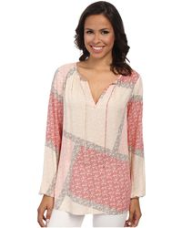 Tommy Bahama Flower Fields Peasant Top - Lyst