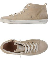 Leather Crown High-Tops & Trainers beige - Lyst