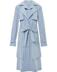 Suno Blue Layered Coat - Lyst