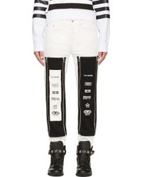 Hood By Air Ssense Exclusive White Zip Off Graphic Jeans - Lyst