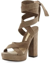 Michael Kors Runway Patras Leather Sandal - Lyst