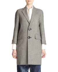 DSquared² Olechka Virgin Wool Coat - Lyst