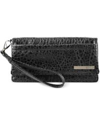 Kenneth Cole Reaction Its A Wrap Double Gusset Flap Clutch - Lyst