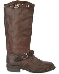 Golden Goose Deluxe Brand Buckled Riding Style Boots - Lyst