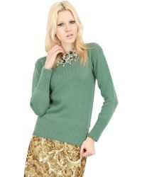 Burberry Prorsum Embellished Cashmere Knit Sweater - Lyst