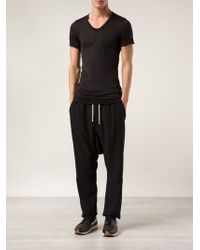 Rick Owens Black Cropped Trousers - Lyst