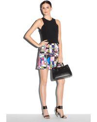 Milly Cubist Print Zip Skirt - Lyst