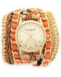 Sara Designs - Prima Wrap Watch - Smoke/gold - Lyst
