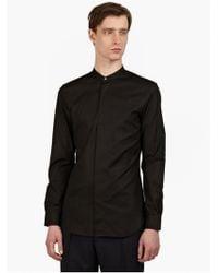 Maison Margiela 14 Men'S Black Granddad-Collar Shirt - Lyst