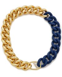Elizabeth and James - Bau Necklace - Gold/Blue - Lyst