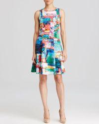 Karen Kane - Full Spectrum Scuba Dress - Lyst