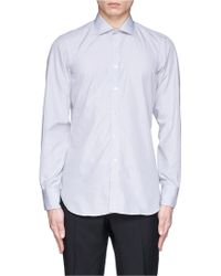 Turnbull & Asser End-On-End Poplin Shirt gray - Lyst