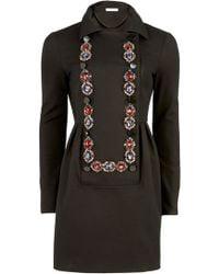 Matthew Williamson Jewel-embellished Bib-front Dress - Lyst