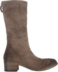 Marsell Distressed Mid-Calf Boot - Lyst