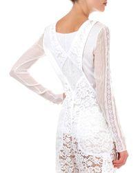 Nina Ricci Lace Overalls - White