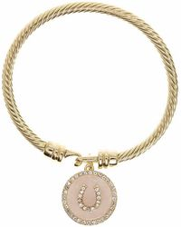 Anne Klein - Horseshoe Charm Bracelet - Lyst
