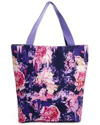Asos Neoprene Smudge Floral Shopper Bag - Lyst