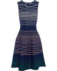 Issa Stretch Jacquard-Knit Mini Dress - Lyst
