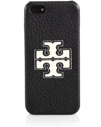 Tory Burch Jessica Leather Iphone 5/5S Case - Lyst