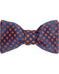 Duchamp Polka Dot Silk Jacquard Bow Tie - Lyst