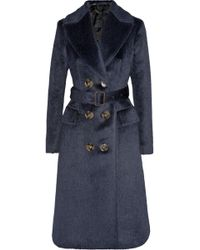 Burberry Prorsum Brushed Alpaca and Woolblend Coat - Lyst