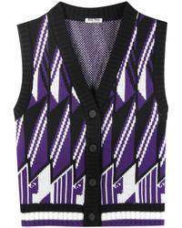 Miu Miu Wool Sweater Vest - Multicolor