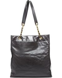Chanel Pre-Owned Vintage Lambskin Shopper Tote Bag - Lyst