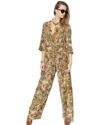 Vivienne Westwood Floral Printed Silk Jumpsuit - Multicolour