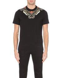 Givenchy Butterfly-Neck Cuban-Fit Cotton-Jersey T-Shirt - For Men - Lyst