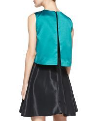 ERIN Erin Fetherston - Sleeveless Contrast-Bodice Cocktail Dress - Lyst