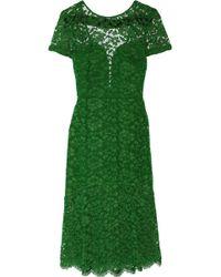 Burberry Prorsum Openback Lace Dress - Lyst