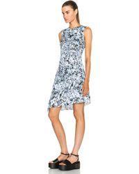 McQ by Alexander McQueen Pleat Drape Dress blue - Lyst