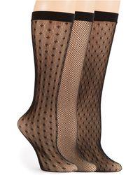 Ellen Tracy - Three Pack Fishnet Trouser Socks - Lyst
