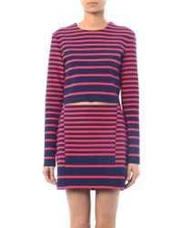 Thakoon Addition - Striped Longsleeved Crop Top - Lyst