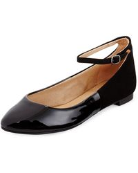 Splendid Isabel Patent Leather and Suede Ballerina - Lyst