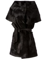 Giorgio Brato Black Sleeveless Coat - Lyst