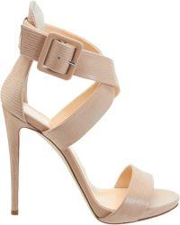 Barneys New York Criss-Cross Ankle Strap Sandal - Lyst
