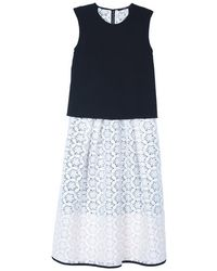 Tibi Embroidery Lace Layered Dress - Lyst
