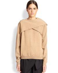 J.W. Anderson Sleeve-Wrap Wool Sweater - Lyst