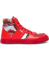 Marc Jacobs Men'S High Top Leather Sneakers - Lyst